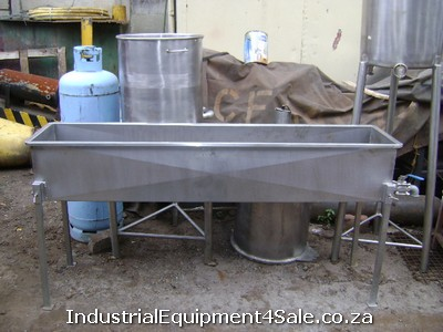 photo: Used stainless steel bath for sale